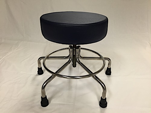 "MR Adj. Doctors Stool 15-21"" w/Rubber Tips"
