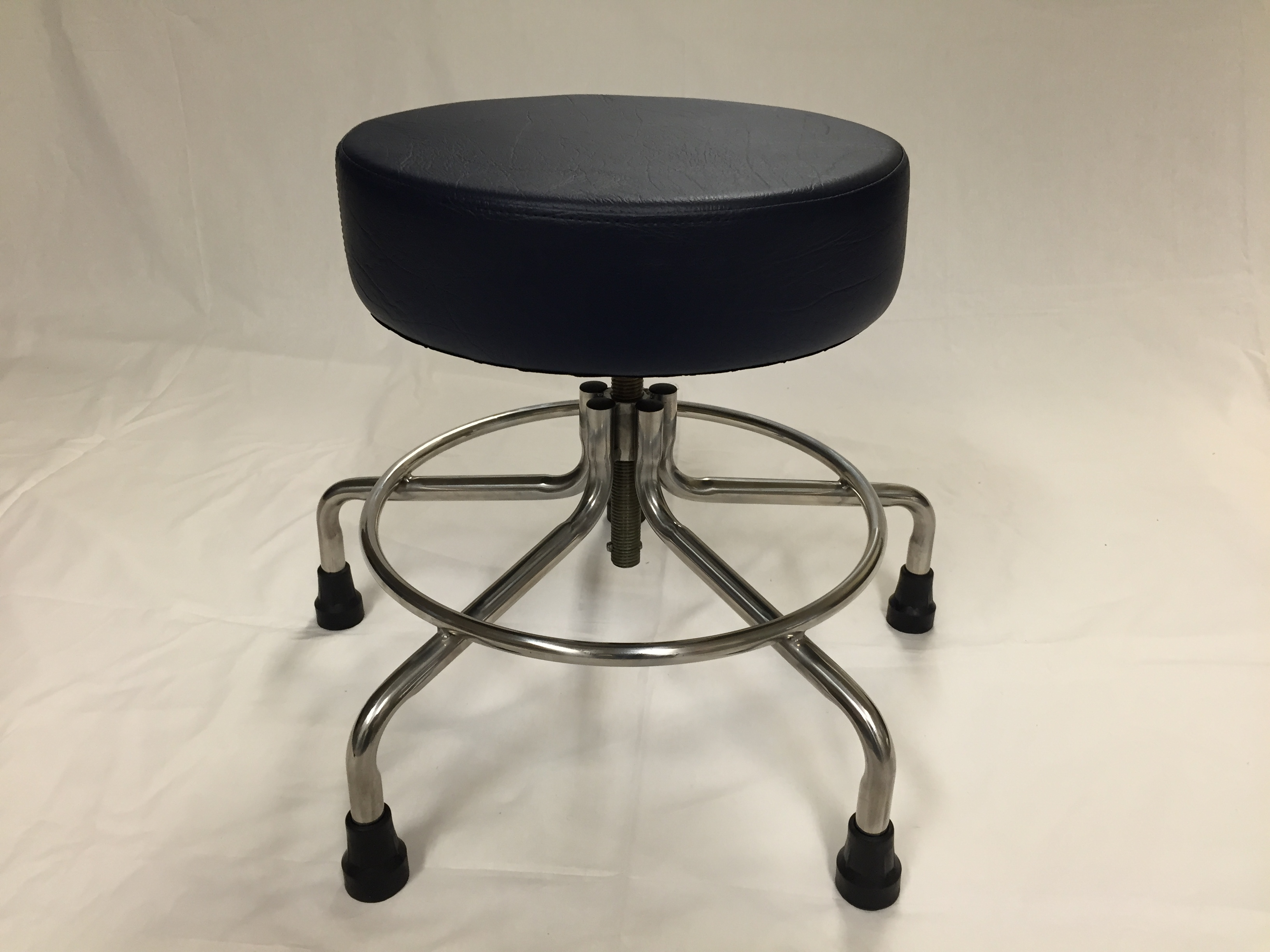 "MR Adj. Doctors Stool 21-27"" w/Rubber Tips"