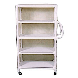 MRI Conditional 4-SHELF LINEN CART WITH MESH OR VINYL COVER