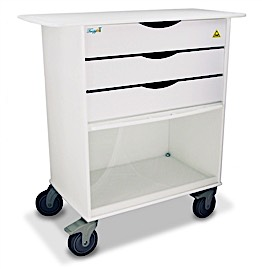 MRI Extra Wide Lab Cart