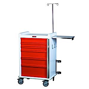 MR-Conditional Six Drawer Emergency Cart Breakaway Lock Specialty Package