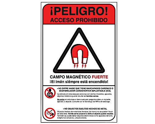 MRI Danger Wall Sign 12x18'' (Spanish)
