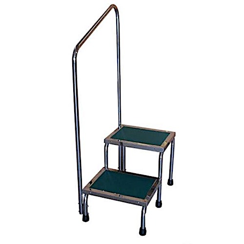 "MRI Compatible Narrow Double Step Stool  with 41"" Handle"