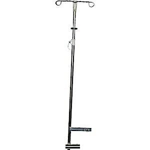 MRI Two Hook IV Pole for MRI Wheelchair