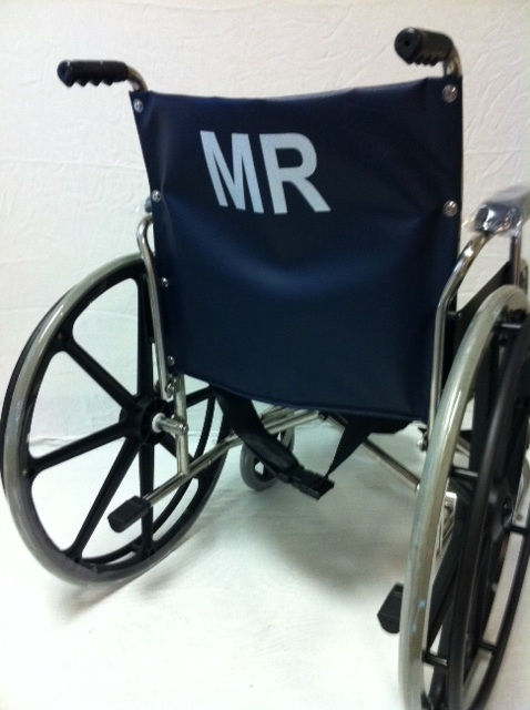 "MR Conditional 22"" Wheelchair w/ Flip up Arms & Removable footrests"