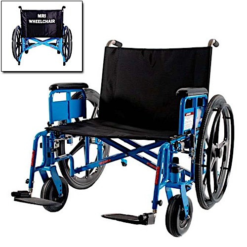 "MR Conditional 26"" Bariatric Wheelchair 650lb"