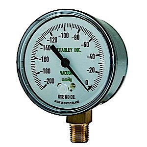 Replacement Gauge for DU-O-VAC (LowFlow, 0-200mmhg)