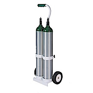 OX-104 - MRI compatable Dual E cylinder cart