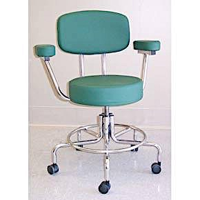 "MR Adj. Doctors Chair 17-23"" w/2"" Casters Arms & Back"