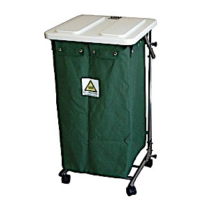 MRI-Conditional Folding Linen Hamper with Lid w/ Foot Pedal