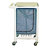 MRI PVC Single Linen Hamper w/casters