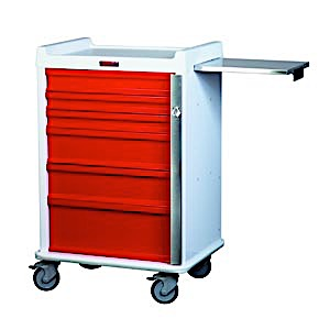 MR-Conditional Six Drawer Emergency Cart Breakaway Lock Standard Package