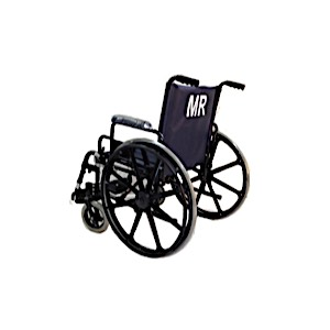 "22"" Wide Non-Ferrous Wheelchair"