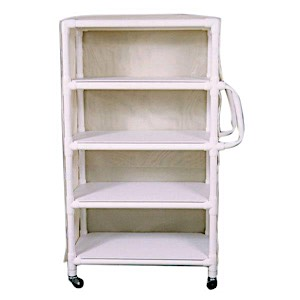 MRI 4-SHELF LINEN CART AVAILABLE WITH MESH OR VINYL COVER