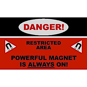 MRI Danger Magnet Always On Carpeted Floor Mat