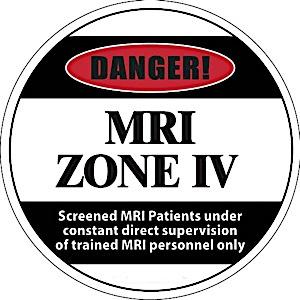 "17"" Diameter Zone IV Floor Sticker"