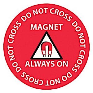 """17"""" Diameter Danger Floor Sticker"""