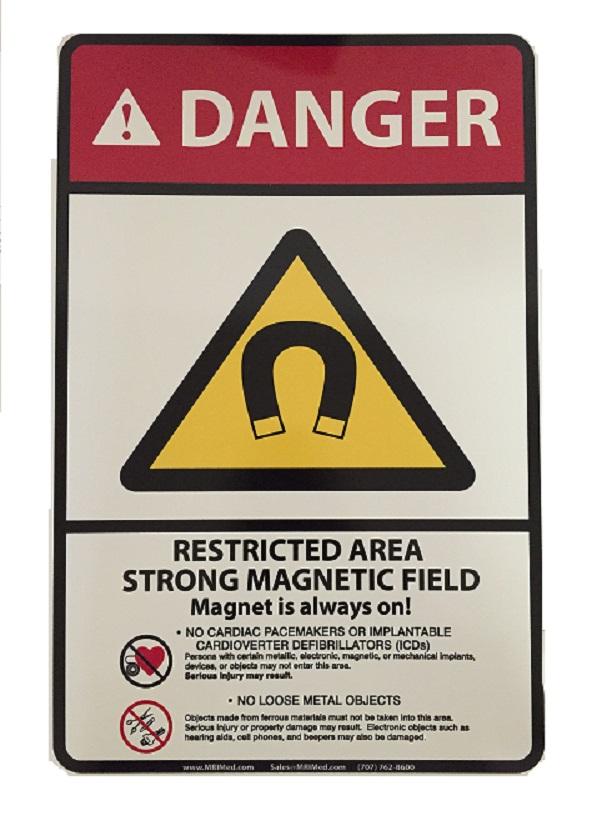 MRI Danger Wall Sign 12x18''