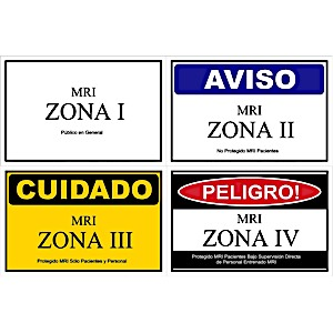 MRI Spanish Zone Sign Combo Pack