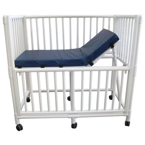 MRI-Conditional PVC Crib w/Adjustable Headrest