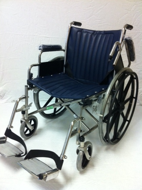 "MR Conditional 18"" Wheelchair w/ Fixed footrests"