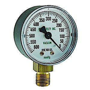 Replacement Gauge for DU-O-VAC (High Flow, 0-400mmhg)