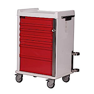 MR-Conditional Seven Drawer Emergency Cart Standard Package