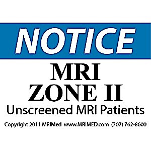 MRI Zone II Sign